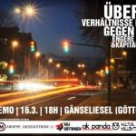 """[DE] 16.03.12 – Ravedemo in Göttingen! Über die Verhältnisse leben – gegen engere Gürtel und Kapitalismus"""""""