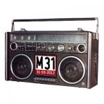Live radio tijdens de M31 demonstratie